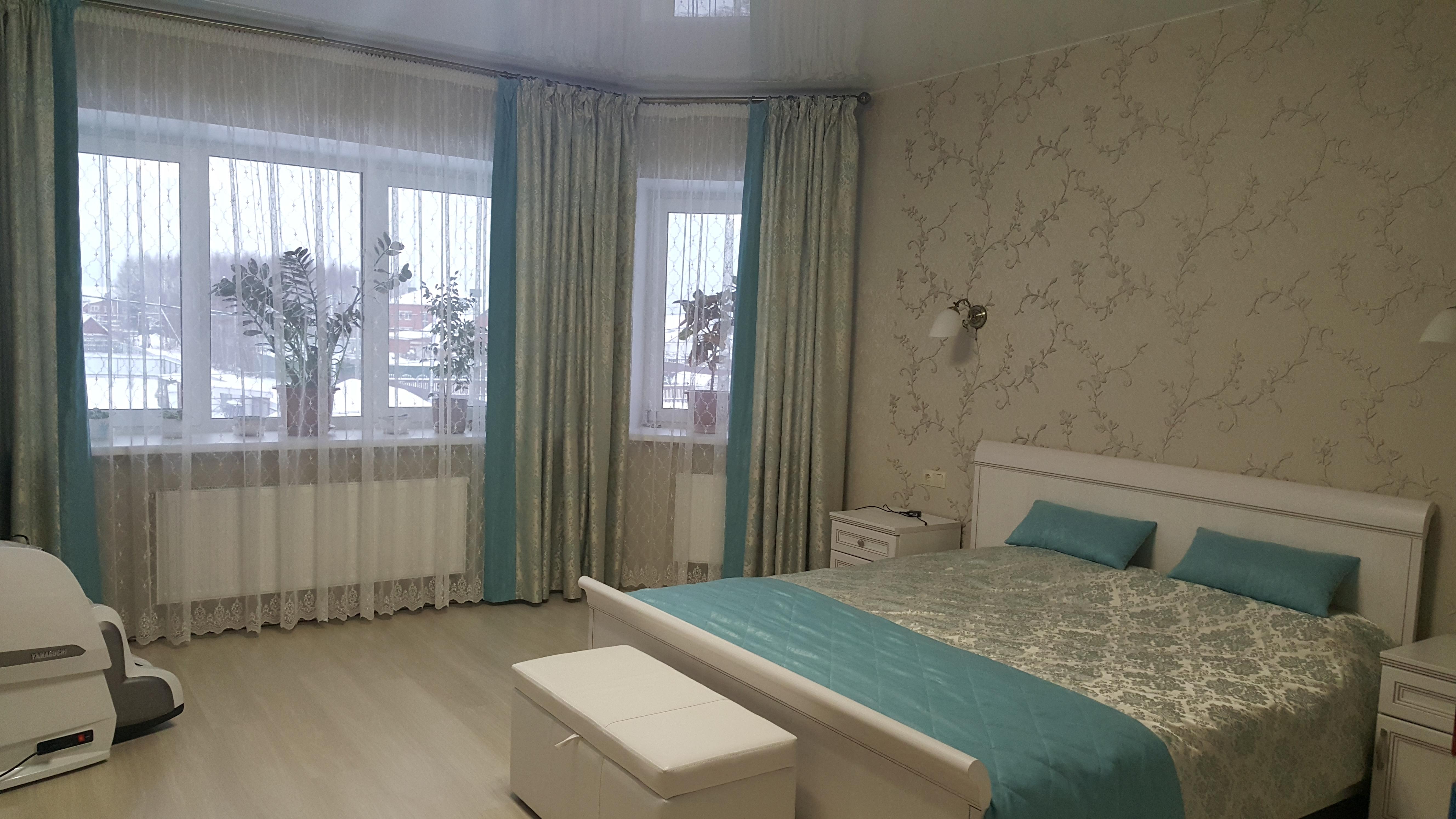 оформление спальни шторы покрывала подушки от фрау штора
